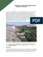 Criterios de Localizacion de La Planta de Tratamiento de Aguas Residuales La Enlozada
