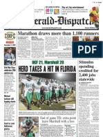 Front Page – The Herald-Dispatch, Nov. 2, 2009