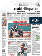 Front Page — The Herald-Dispatch, Aug. 6, 2009
