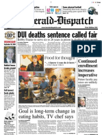 Front Page — The Herald-Dispatch, Sept. 30, 2009