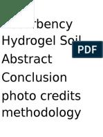 High Absorbency Hydrogel Soil