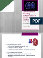 Consecuencias Renales y Metabólicas Del Uso de Drogas