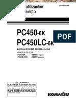 Manual Utilizacion Mantenimiento Excavadora Pc450lc 6k Komatsu