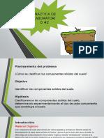 """Practica de Quimica """"clasificacion de los componentes solidos del suelo"""""""
