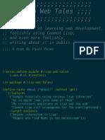 Lisp Webtales