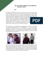 Breve Análisis de La Sucesión Política en El Estado de Veracruz