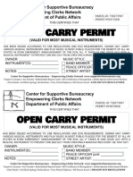 Open Carry Permit for Musical Instruments