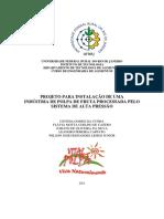 PROJETO PARA INSTALAÇÃO DE UMA INDÚSTRIA DE POLPA DE FRUTA PROCESSADA PELO SISTEMA DE ALTA PRESSÃO HISROSTÁTICA