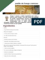 Copie a Receita de Empadão de Frango Cremoso - Receitas Supreme