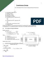 Notes Tee604 Transformer Design