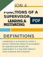 Lesson 4 - Leading & Motivating