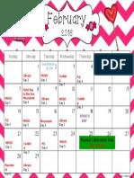 Calendar—February 2016