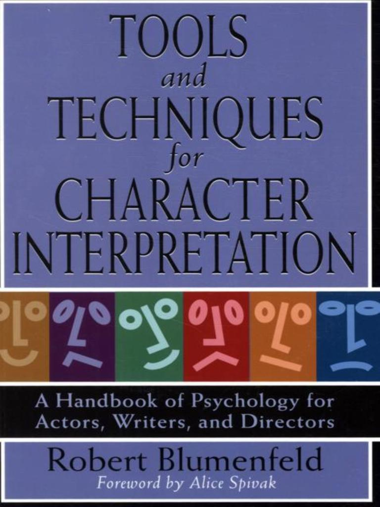 Tools And Techniques For Character Interpretation