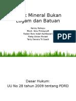 Pajak Mineral Bukan Logam Dan Batuan