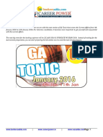 Current Affairs Tonic 4th Jan to 11th Jan