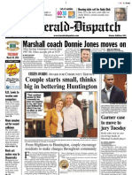 Front Page — The Herald-Dispatch, March 20, 2010