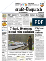 Front Page — The Herald-Dispatch, April 6, 2010