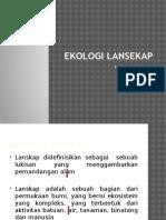 Ekologi Lansekap biologi