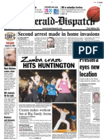 Front Page — The Herald-Dispatch, Jan. 12, 2010