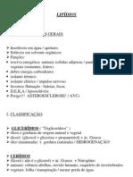 Biologia - Resumo Lipídios