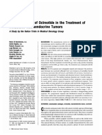 Clinical Efficacy of Octreotide  in Metastatic Neuroendocrine Tumors