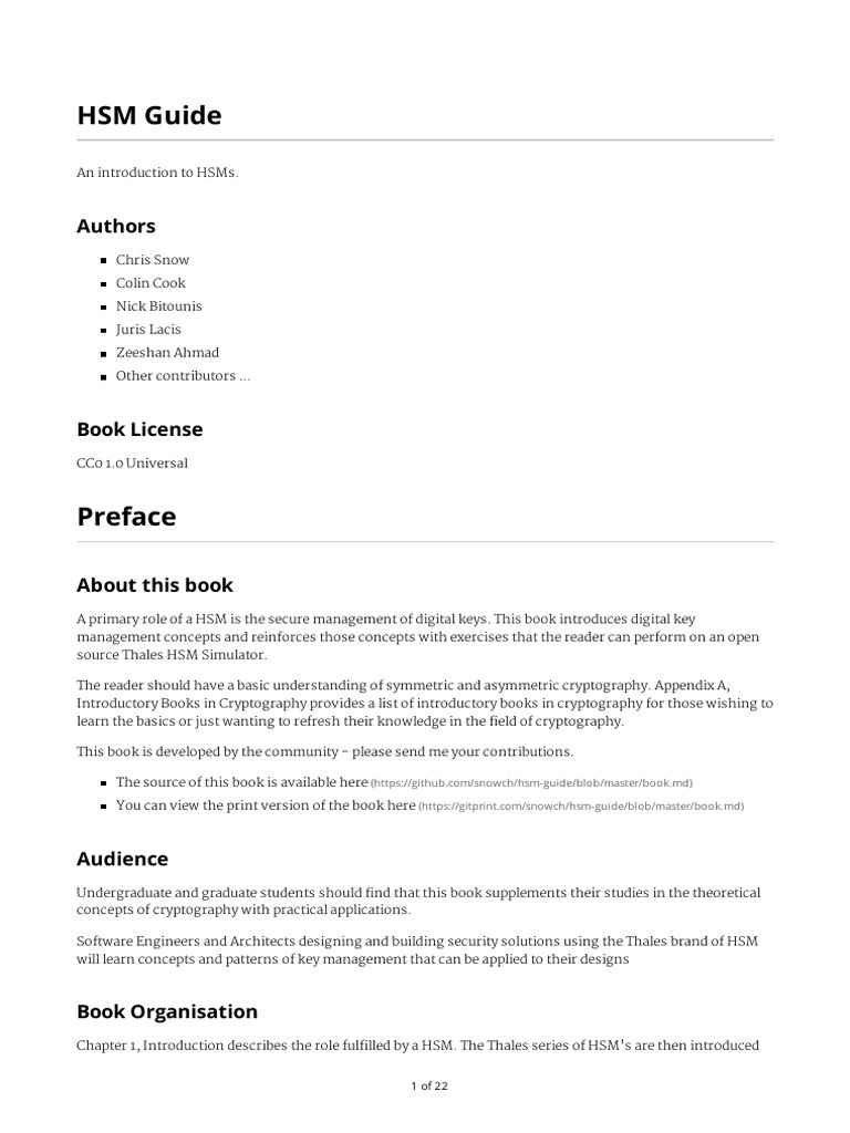 hsm-guide-blob-master-book md pdf | Cryptography | Public