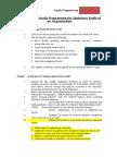 Statutory Audit Program