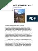 Hidrografía. Rios (Primera Parte)