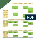 2nd Semester Schedule - AY 2015-2016