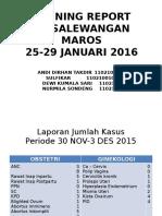 Monre 25-29 Januari 2016