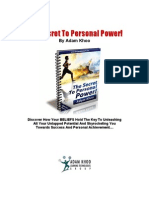 The Secret To Personal Power!