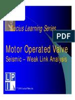 Lucius Learning Series - MOV Seismic Weak Link