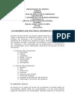 Variables Internas y Externas de La Empresa