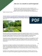 Faire dans votre jardin avec ces conseils en aménagement paysager