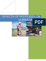 Effect of Pesticides on Human Health