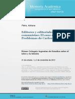 Petra - Editories y Editoriales Comunistas, El Caso de Problemas de Carlos Dujovne