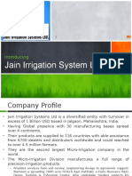 Presentation on Jain Irrigation_V5