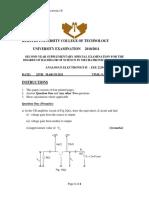Analogue II Exams Eee 2210 Mechatronics-printready