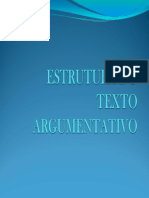 Estrutura de Texto Argumentativo