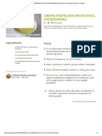Crema Pastelera Microondas de David - Cookpad