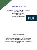 Kaji Ulang Manajemen Iso Iec 17020