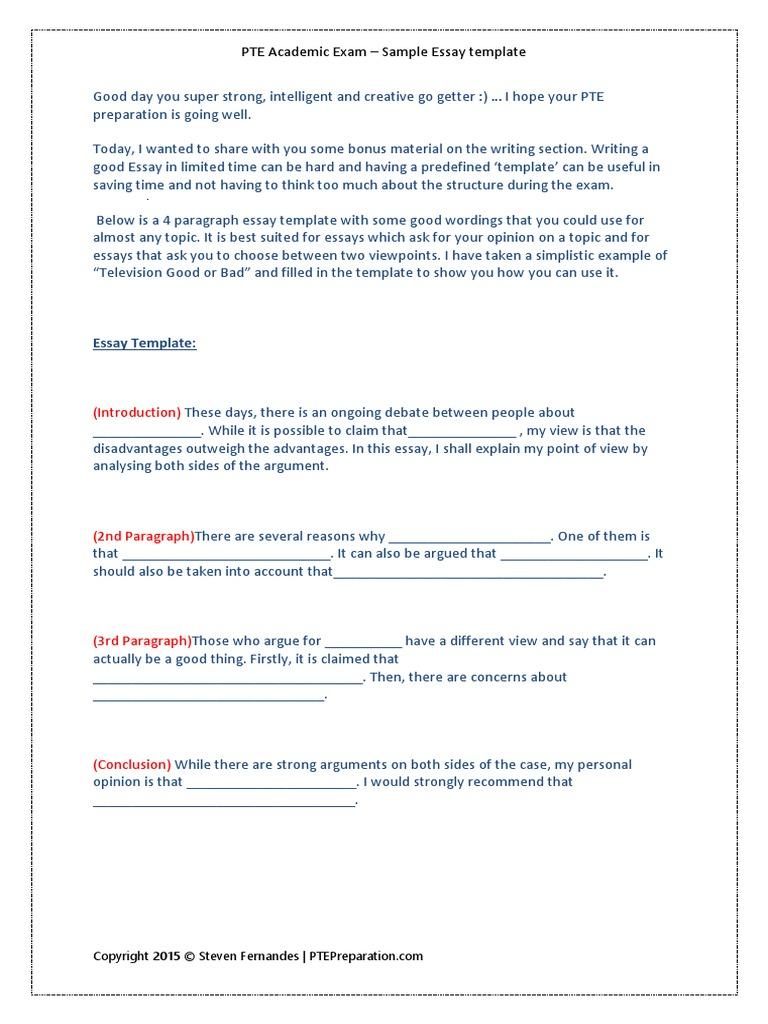 Pte essay writing template1 steven fernandes essays test