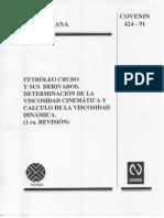 Covenin Viscosidad 424-91