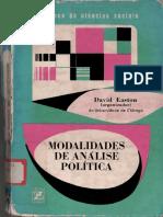 EASTON, David. (Org.) - Modalidades de Análise Politica