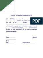 DPN - Demand promissory Note.