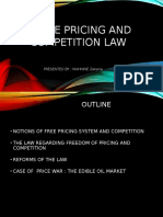 Law of Free Pricing and Competition