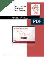 Matemática Tema 6 Ecuaciones Lineales y Cuadráticas Versión PDF