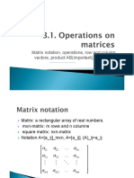 Operations on Matrices - Linear Algebra