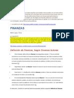 Definición de Finanzas