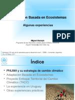Adaptacion Basada en Ecosistemas - Experiencias Argentina 2011